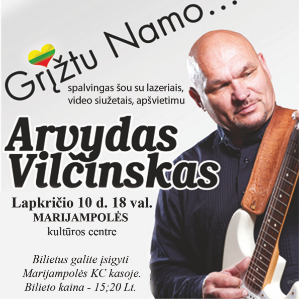 Arvydo Vil Insko Koncertas Gr Tu Namo